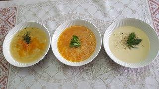 Три замечательных супа из овощей В одной кастрюле 3 супа Вегетарианский суп Рецепт