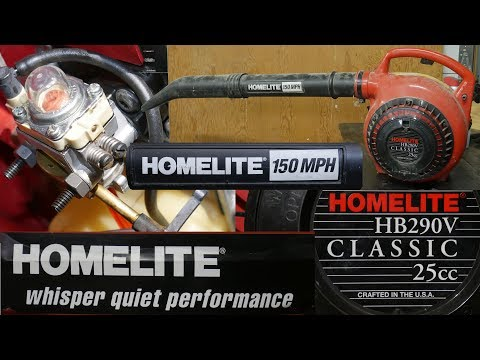 Homelite Blower HB290V 25cc revived with new fuel line, primer bulb and cleaning