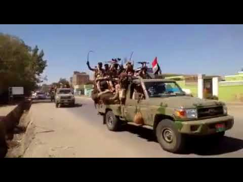Sudanese Rapid Support Forces(RSF) troops entering Kassala
