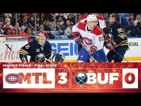 Canadiens vs Sabres 2017-18 Match 75