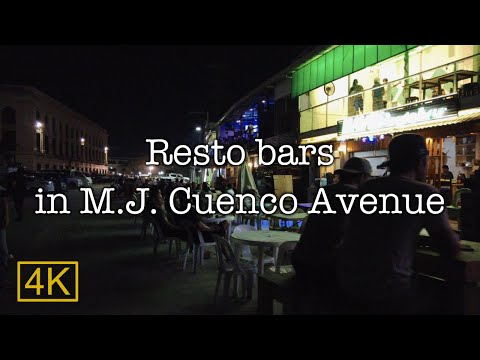 【4K】Resto Bars In M.J. Cuenco Avenue, Cebu, Philippine