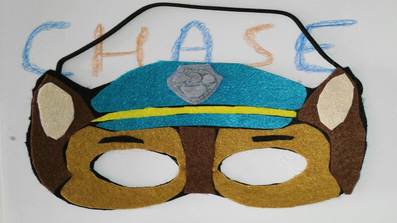 Mascara o careta de La Patrulla Canina Chase Paw Patrol Dibujos