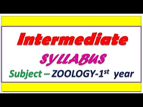 Intermediate 1st year zoology syllabus || Intermediate first year zoology  chapter names