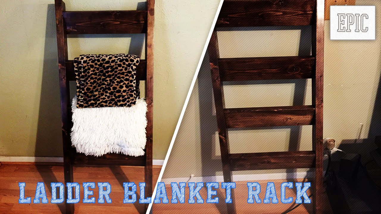 My Next Project Ladder Blanket Rack
