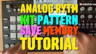 Analog Rytm Kit Sound Pattern Save Project - Mega Tutorial