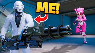 Pretending to be a vault henchman in Fortnite!