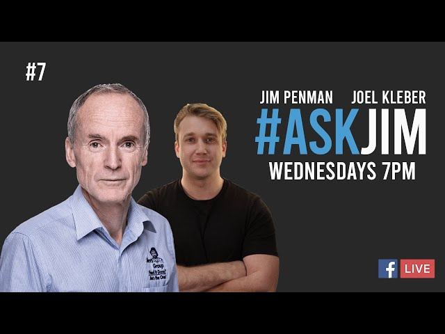 FB Live Q & A Number 7 with Jim.