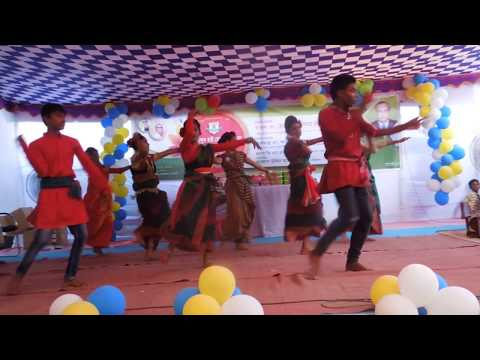 bristi pore tapur tupur awesome dance by student of kari abdul hai memorial school  shekherchar babu