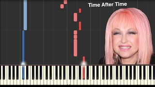 Time After Time - Cyndi Lauper - Piano Tutorial [MIDI and Sheets in Desciption]