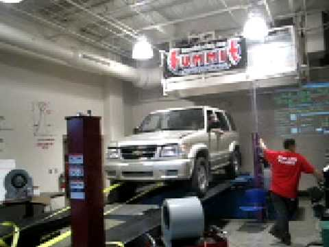 Isuzu Trooper 350 V8 Dyno Lane Run Youtube