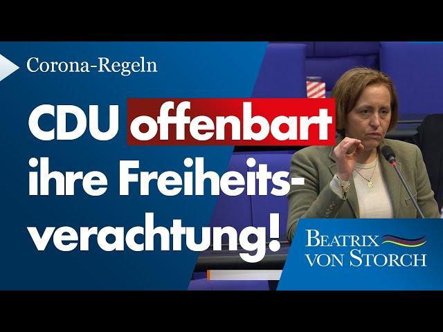 Beatrix von Storch (AfD) - Wie schränkt man die Grundrechte anderer durch einen Spaziergang ein?
