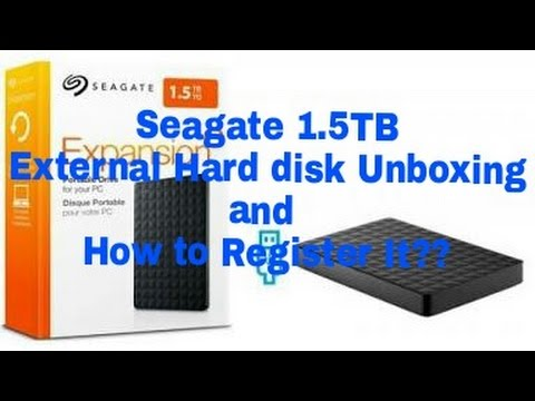 Seagate 1 5 TB External Hard disk Unboxing and How to Register it??(Hindi)