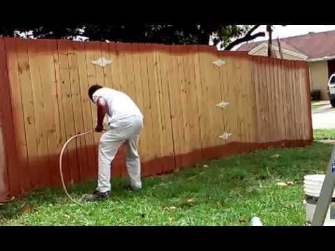 Charming Techniques Idea How To Paint A Wood Fence In Less 5 Minutes