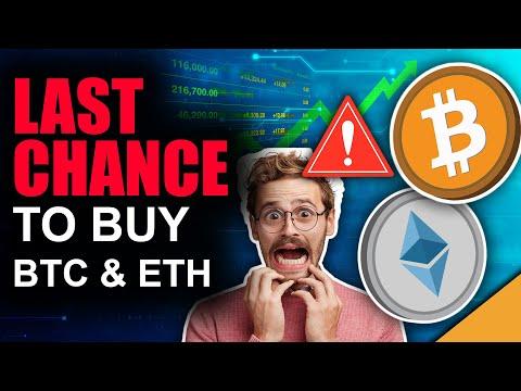 EMERGENCY Bitcoin News! LAST Chance to Buy Bitcoin & Ethereum!!!!!!!