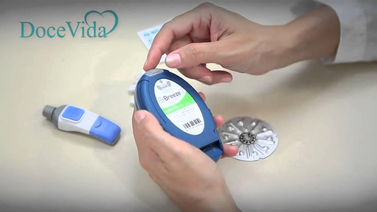 como utilizar o medidor de glicose breeze 2 da bayer youtube