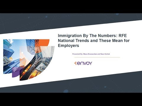 Immigration by The Numbers: RFE National Trends, and What These Mean for  Employers