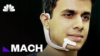 This Futuristic Headset Lets You Talk To Other Devices Without Saying Anything | Mach | NBC News