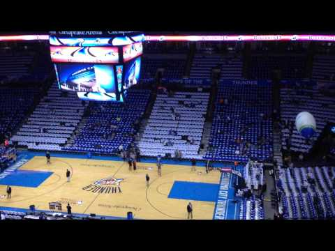 Chesapeake Energy Arena before Game 4