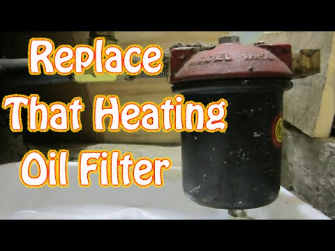 DIY How to Replace Oil Fired Furnace \ Boiler Filter  Oil Fired Burner Filter Replacement
