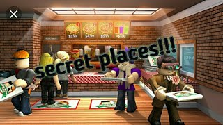 All *SECRET* places in work at a pizza place! - roblox