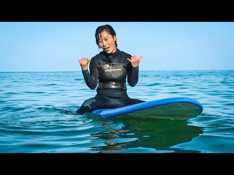 NORTH KOREAN SURFER CHICKS  - North Korea Day 6