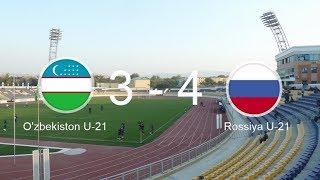 O'zbekiston U-21 -  Rossiya U-21 3 : 4 (tanaffus) 1-taym 0:3