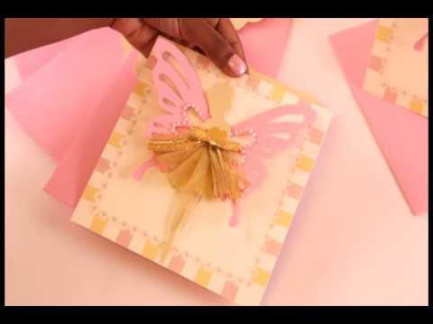 Fairy Dress Birthday Invitation By Crack of Dawn Crafts