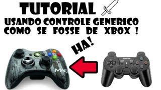 Como usar controle generico como se fosse de Xbox!