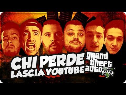GTA 5 Online : CHI PERDE LASCIA YOUTUBE !!! w/Gabbo,Rohn,Dread,Ciccio,Sodin