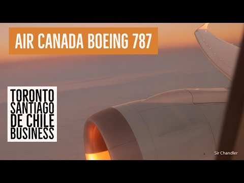 Vuelo de Toronto a Santiago de Chile - Business Air Canada