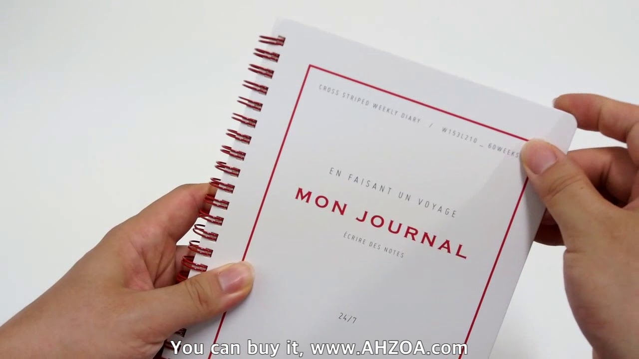 stationery review mon journal diary package youtube