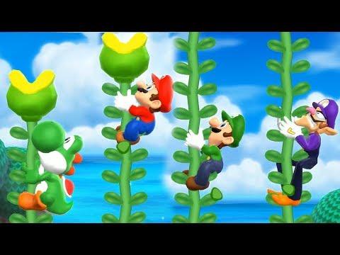 Mario Party 9 Step It Up - Yoshi vs Mario vs Luigi vs Waluigi Master Difficulty| Cartoons Mee
