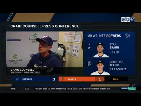 Craig Counsell on the Brewers' win and Mike Moustakas trade