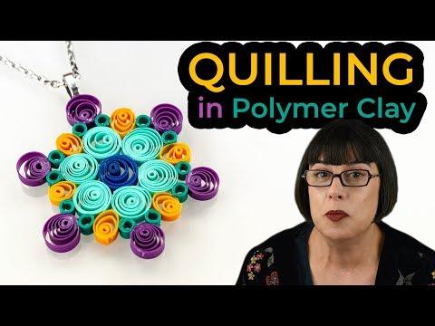 Cómo hacer filigrana en arcilla polimérica – QUILLING [Sub]   Ana Belchí