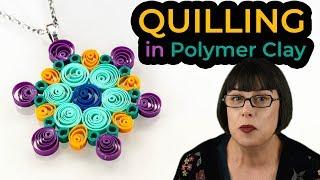 Cómo hacer filigrana en arcilla polimérica – QUILLING [Sub] | Ana Belchí
