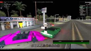Roblox - Los Angeles: Gang Wars - War between GSF and West Side Ballas