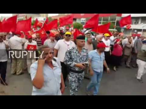 Iraq: Hundreds of Iraqi Communist Party supporters march on May Day in Baghdad
