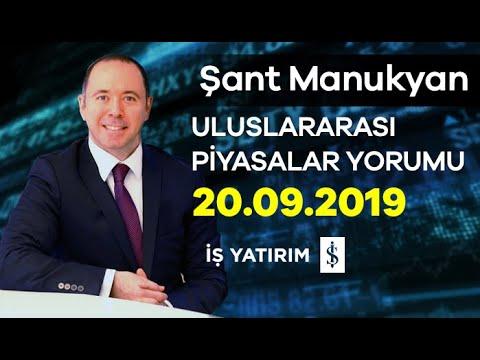 20.09.2019 | Şant Manukyan | Günlük Piyasa Yorumu