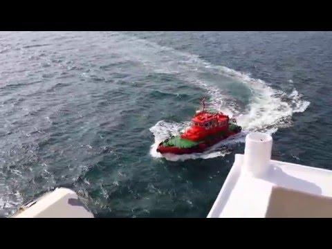 Dardanel strait  departure  pilot away