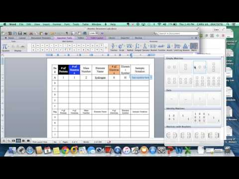 Microsoft Word- Isotopic Notation