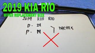 2019 Kia Rio Wiper Blade R…