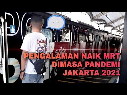 Njajal MRT Jakarta 2021 Masa Pandemi - Bundaran HI To Blok M Station (4K)