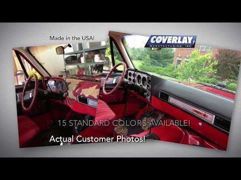 COVERLAY! The Fast, Easy Solution To Your Cracked Dash Or Door Panel!