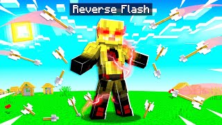 Playing as REVERSE FLASH in MINECRAFT! (fast)
