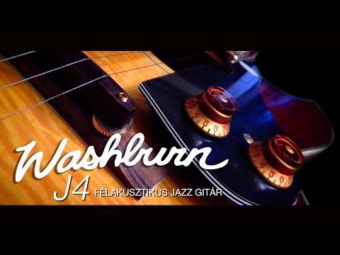 Washburn J4 HB üreges testű jazz gitár.