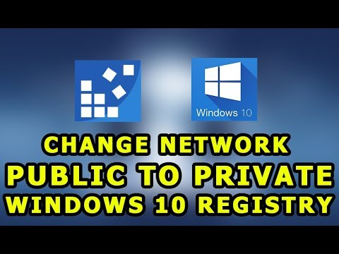 windows 10 1803 network public to private