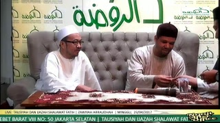 Video TAUSIYAH DAN IJAZAH SHALAWAT FATIH SYEKH AHMAD ATTIJANI download MP3, 3GP, MP4, WEBM, AVI, FLV November 2018