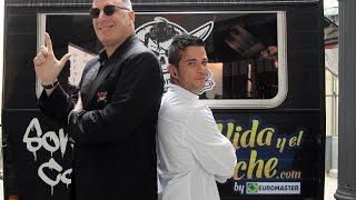 Loquillo y el chef Carlos Maldonado unidos por la seguridad al volante
