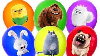 Сюрпризы и Игрушки из м/ф Тайная жизнь домашних животных Balloons Surprise The Secret Life of Pets