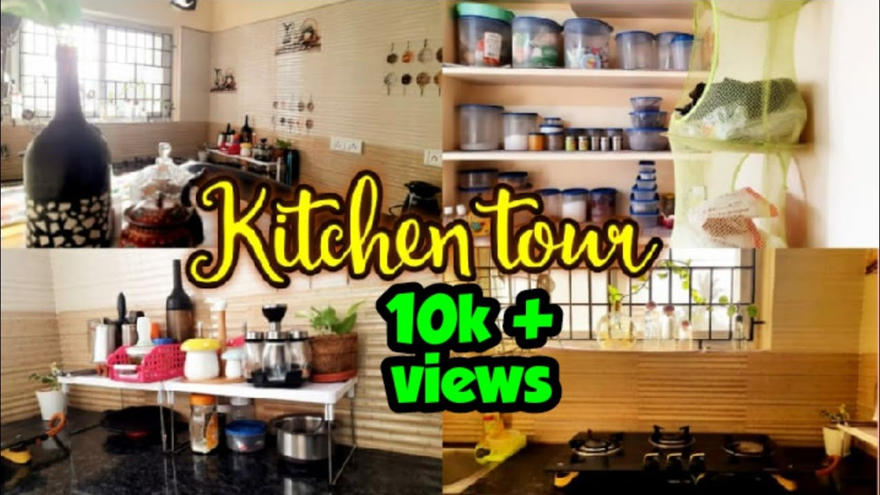 Non modular kitchen tour   Kitchen organizing ideas in tamil   Countertop  organizing ideas